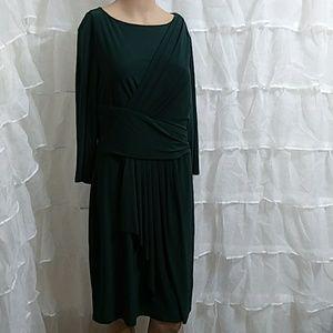 CHAPS Faux Wrap Midi Dress